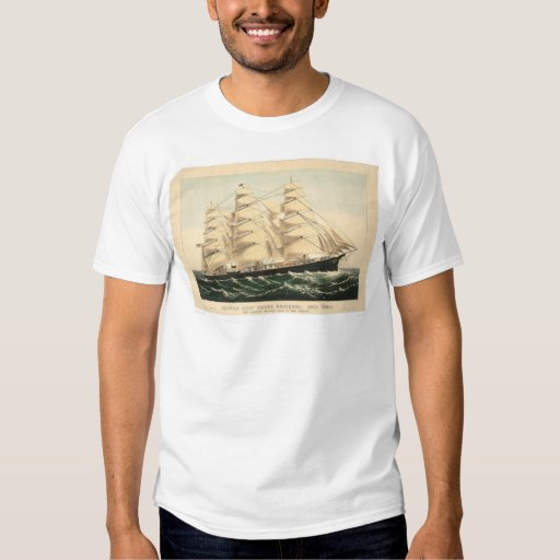 """Clipper ship """"Three Brothers"""" (0406A) Tees"""