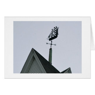 Clipper Ship weather vane Greeting Card