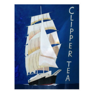 Clipper Tea vintage advertising poster Postcard
