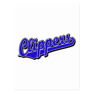 Clippers in Blue Postcard