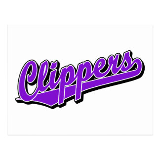 Clippers in Purple Postcard