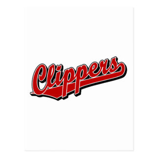 Clippers in Red Postcards