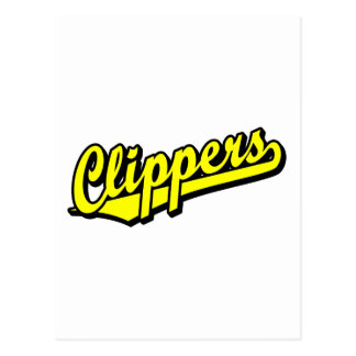 Clippers in Yellow Postcards