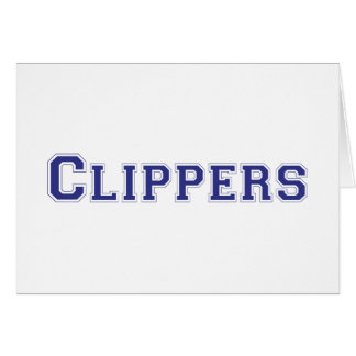 Clippers square logo in blue cards