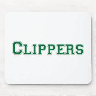 Clippers square logo in green mouse pad