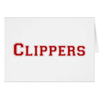 Clippers square logo in red card