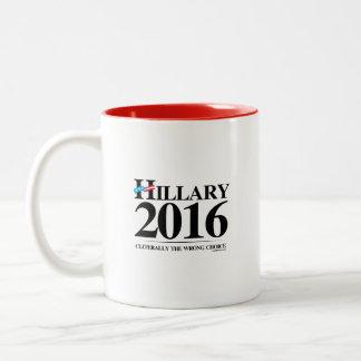Cliterally the Wrong Choice Two-Tone Coffee Mug