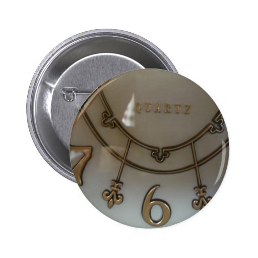 Clock Pinback Buttons