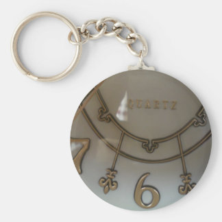 Clock Basic Round Button Key Ring