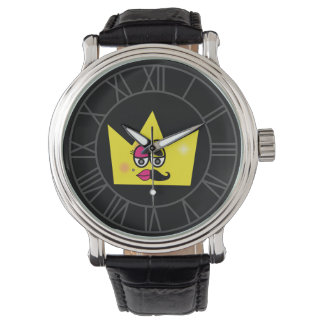 Clock Black Leather Vintage - Transgênero Trans Watch