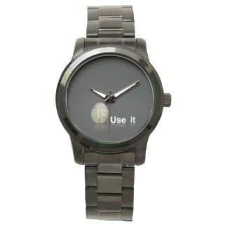 Clock Black Modern Brain Uses It Wrist Watch