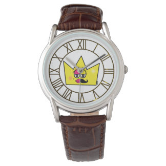 Clock Brown Leather - Transgênero Transexual Watch