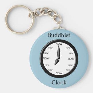 Clock Buddhist Clock Basic Round Button Key Ring