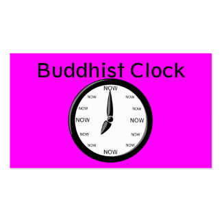 Clock Buddhist Clock Double-Sided Standard Business Cards (Pack Of 100)