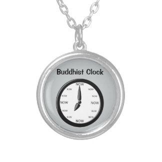 Clock -  Buddhist Clock Round Pendant Necklace