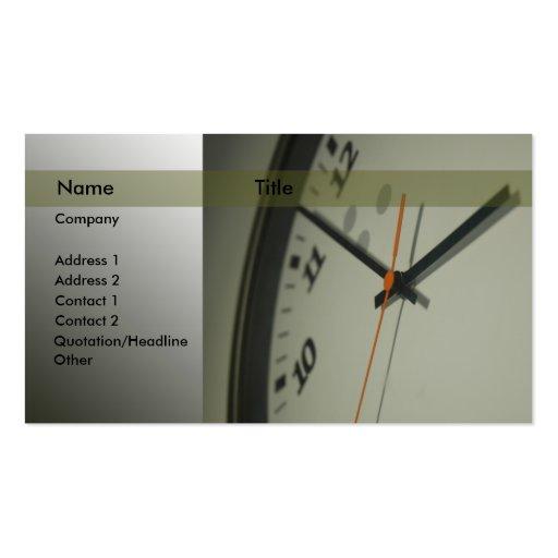 Clock Business Card Templates