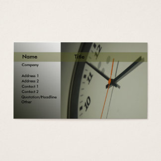 Clock Business Card