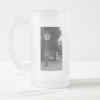 Clock, Capital Building Grounds Richmond, VA Frosted Glass Mug