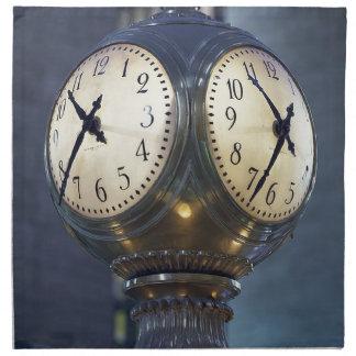 Clock Concourse Grand Central Station New York Napkin