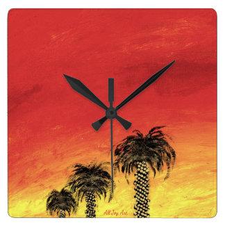 """Clock """"Desert Celebration by All Joy Art"""
