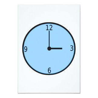 Clock Displaying Time 9 Cm X 13 Cm Invitation Card