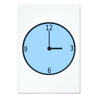 Clock Displaying Time 9 Cm X 13 Cm Invitation Card