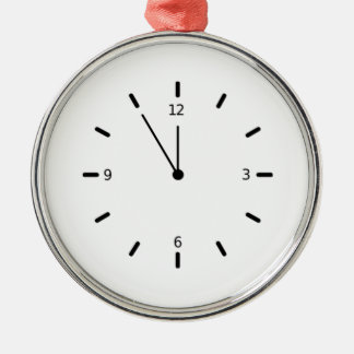 Clock Displaying Time Christmas Ornament