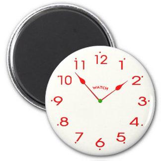 clock face_02 6 cm round magnet