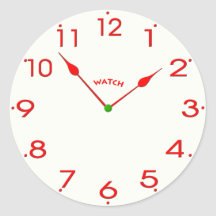 clock face_02 round stickers