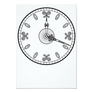 Clock Face 13 Cm X 18 Cm Invitation Card