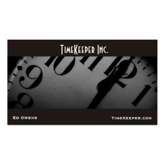 Clock Face Business Card Template