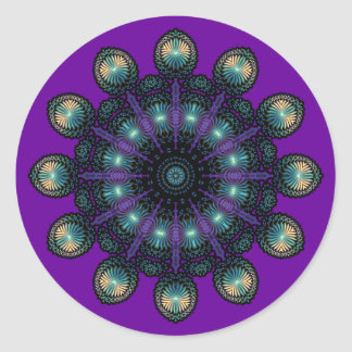 Clock Faces - Apophysis Fractal Classic Round Sticker