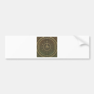 Clock faces bumper sticker