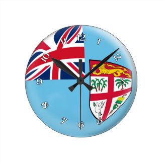 Clock Fiji flag Bubble Design