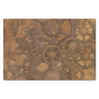 Clock Gears Steampunk Art Tissue Paper