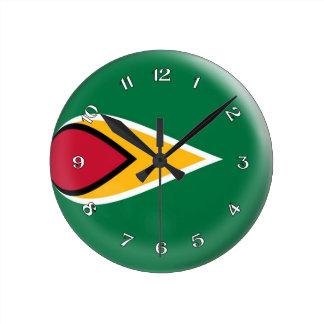Clock Guyana flag Bubble Design