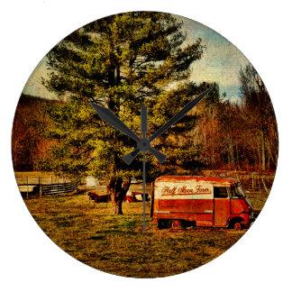 Clock-Half Moon Panel Truck