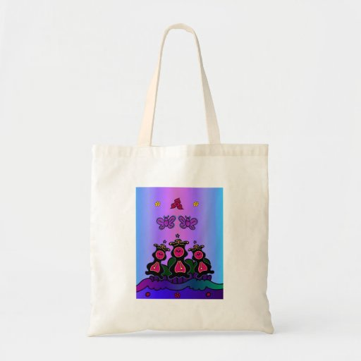 Clock Hop Canvas Bag