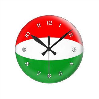 Clock Hungary Hungarian flag Bubble Design