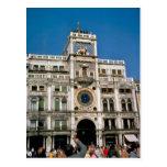 Clock in St Mark's Square, Venice Postcard