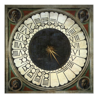 Clock in the Duomo by Uccello Renaissance Art Personalized Invitation
