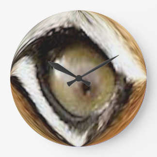Clock - Large Round - Tiger's Eye