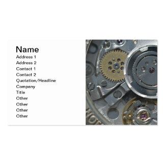 Clock mechanism business cards
