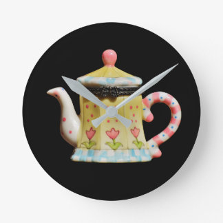clock, medium,  round, image, teapot, design round clock
