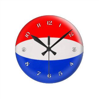 Clock Netherlands Dutch flag Bubble Design