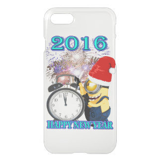 CLOCK NEW YEAR 2016 WITH BANANA iPhone 7 CASE