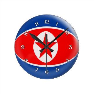Clock North Korean Korean flag Bubble Design