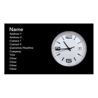 Clock Pack Of Standard Business Cards
