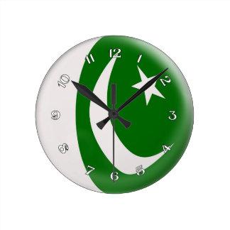 Clock Pakistan Pakistani flag Bubble Design