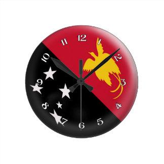 Clock Papua New Guinea flag Bubble Design